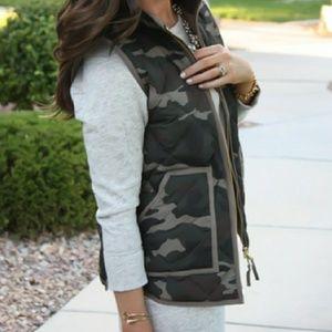 J.Crew | Camo Excursion Vest Size XXS